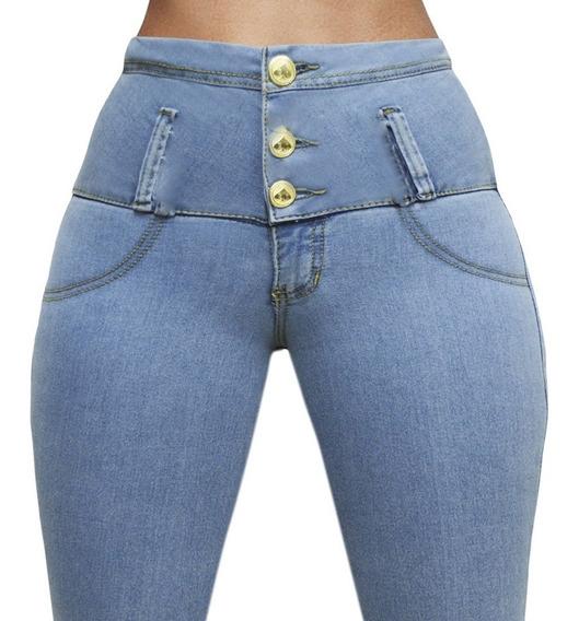 Jeans Levanta Cola Con Bolsillos Premium Marca Casi Bruja