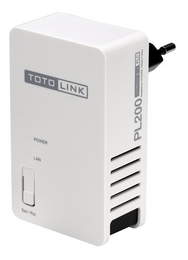 Adaptador Powerline Toto Link Pl200 Rj45 Wifi X Electricidad