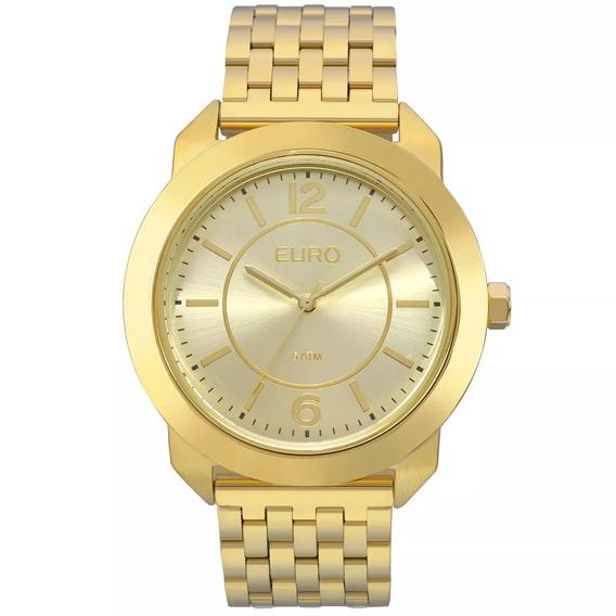 Relógio Euro Feminino Socialdourado Wr50 Barato Eu2035ylf/4d