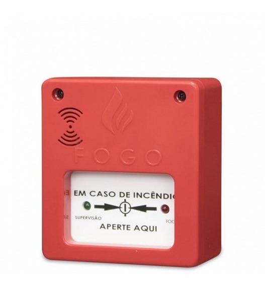 Botoeira Acionador Manual Central Alarme Incêndio C/ Sirene