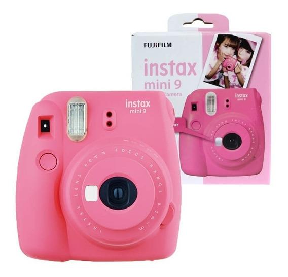 Câmera Instax Mini 9 Rosa Flamingo Fujifilm