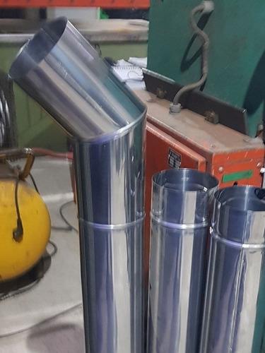 Imagen 1 de 1 de Caños Chimeneas Parrilleros Calefactores Estufas Acero Inoxi