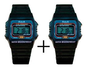 Combo Relógios Aqua Aq37 À Prova D