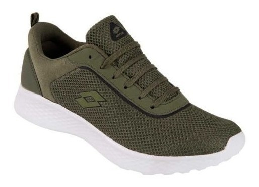 Tenis Casual Verde Ligero Lotto Pro Action 3330 Imp 826616