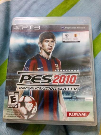 Jogo Playstation 3 Ps3 Pes 2010 Usado