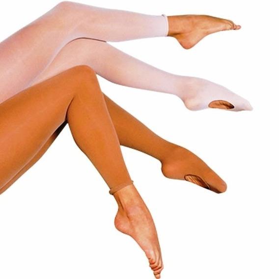 Medias Juvenil Adulta Can Can Desnudas Danza Ballet Profesionales Ultra Opacas Con Abertura 100% Lycra