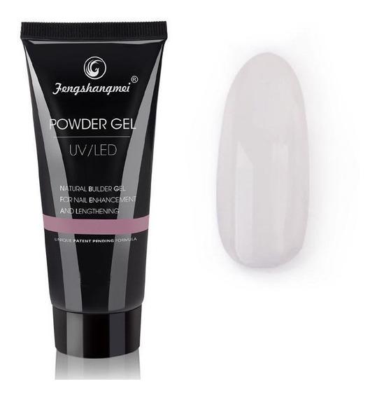 Polygel Powder Gel Uv Led Clear 01 X 50 Ml - Fengshangmei