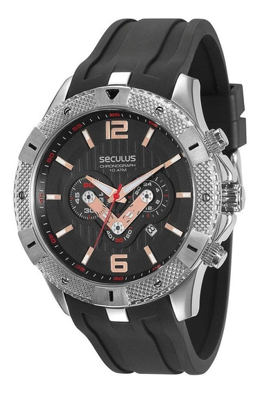 Relógio Masculino Cronógrafo Seculus 60668g0svnu1 - Preto