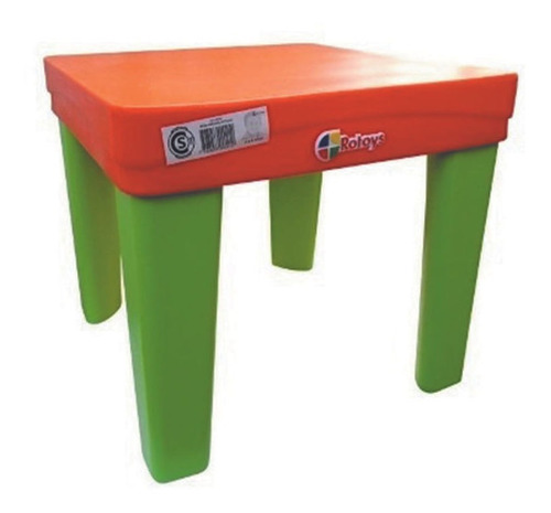 Mesa Reforzada Para Niños Rotoys Original Naranja