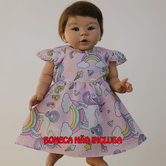 Vestido Para Boneca Bebê Reborn Com Várias Cores
