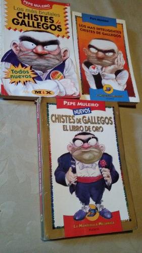 Pepe Muleiro Lote De 3 Libros Chistes De Gallegos