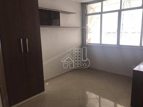 Apartamento Com 2 Dormitórios À Venda, 77 M² Por R$ 250.000,00 - Fonseca - Niterói/rj - Ap3376