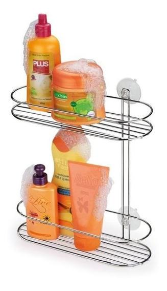 Suporte Para Shampoo Dupla Cromada