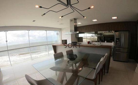 Mirage Residence, Apartamento Frente Mar Mobiliado, 4 Suítes, 4 Vagas, Praia Brava - Ap0555
