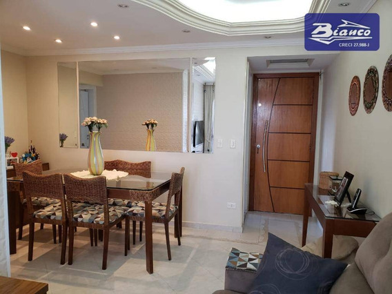 Apartamento Com 3 Dormitórios À Venda, 76 M² Por R$ 360.000,00 - Gopoúva - Guarulhos/sp - Ap3817