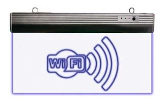 Letrero Wifi Led Recargable 127 Volts Emergencia
