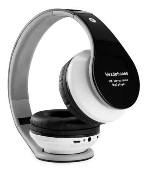 Headphone Bluetooth Sem Fio Fm Mini Mp3 Player Radio Fm