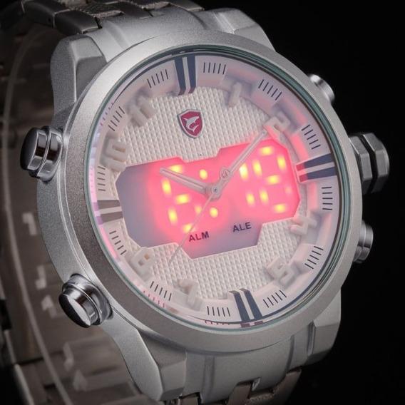 Relógio Masculino Shark Ds016s Militar Led Original Oferta
