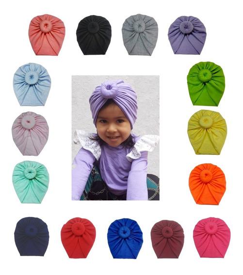Turbante Gorrito De Algodón Para Bebé Y Niñas ( Pack 3 )