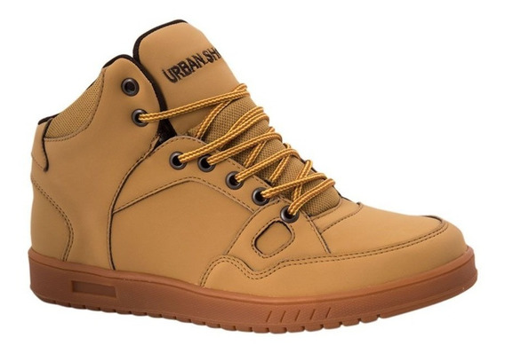 Tenis Casual Bota Urban Shoes 8104 Miel Hombre Envio Gratis