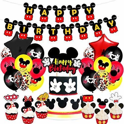 Juego De Suministros Para Fiesta De Cumpleaños De Mickey, Mi