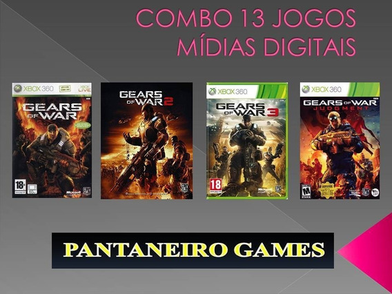 Gears Of War 1, 2, 3 E Judgement + Bonus M. Digital Xbox 360
