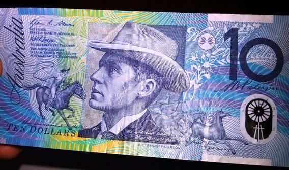 Cédula De 10 Dólares Australiano Nota Linda