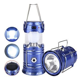 Lampião 6 Led Lanterna Solar Recarregavel Bivolt Usb Camping