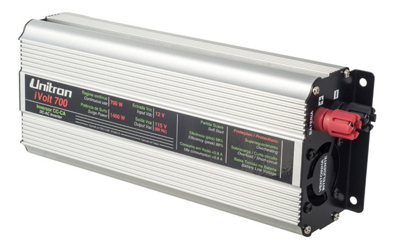 Inversor De Voltagem Ivolt 700w 12v/127v Onda Modificada