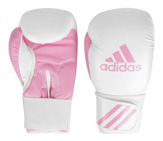 Luva De Boxe adidas Response Branca Com Rosa 10oz 12oz