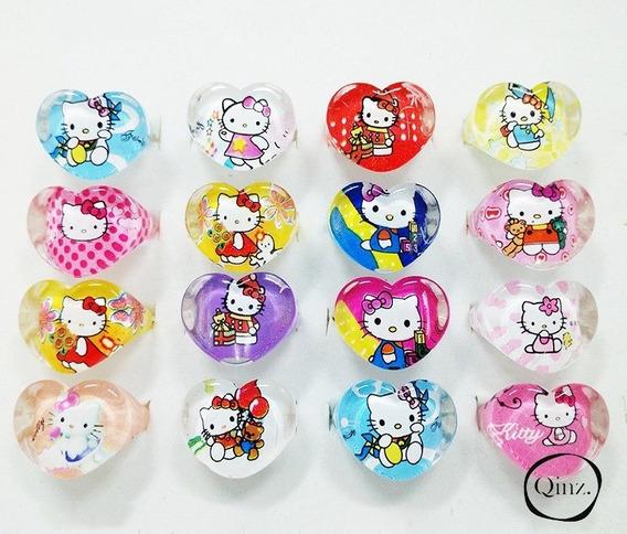Anel Infantil Menina Da Hello Kitty Gato Gatinho Brinquedo