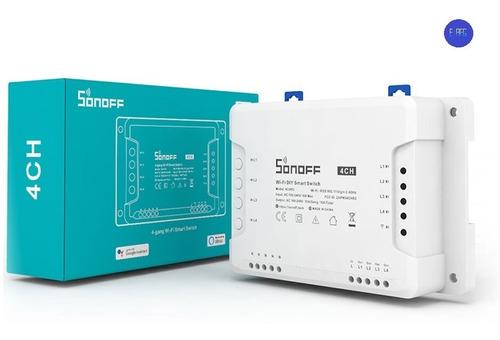 Imagen 1 de 4 de Sonoff 4ch Interruptor Inteligente Wifi Domotica