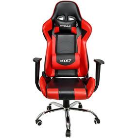 Cadeira Gamer Mx7 Giratoria Preto E Vermelho Mgch-002/rd