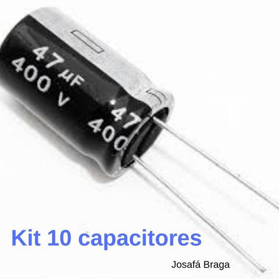 Kit Com 10 Capacitores 4,7uf 400v A Pronta Entrega Original
