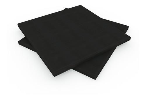 Placa Panel Acustico Liso 500x500x35mm C/retardodellama