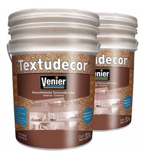 Revestimiento Venier Color X 30kg Textudecor Exterior Inter.