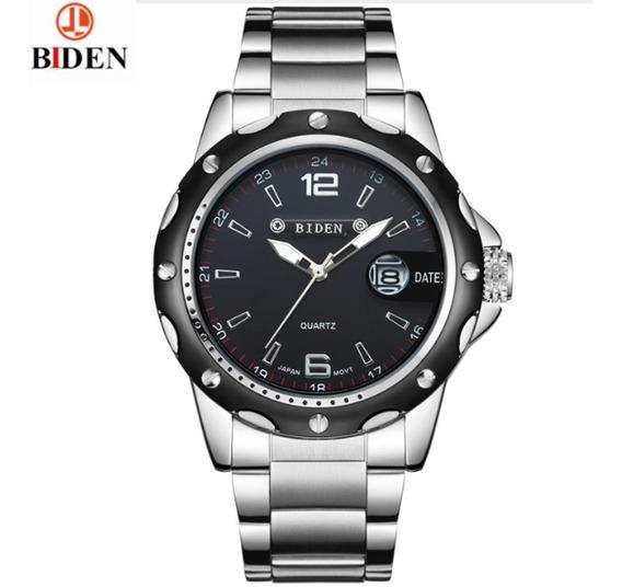 Relógio Biden 4808, Aço Inox À Prova D