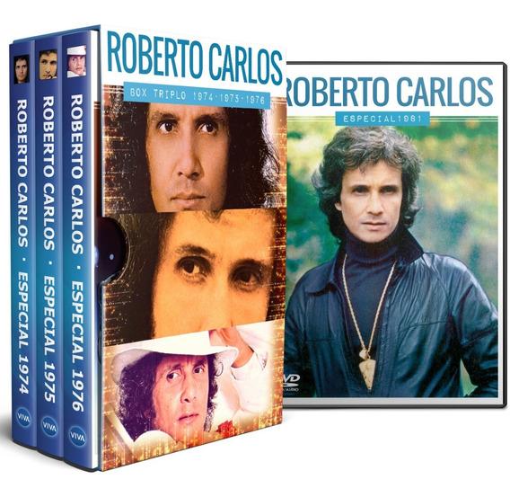 Box 04 Dvd Roberto Carlos Especial 1974, 1975, 1976 E 1981