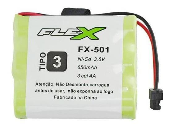 Bateria Aa 3.6v 650mah Tipo 3 Telefone Sem Fio Panasonic