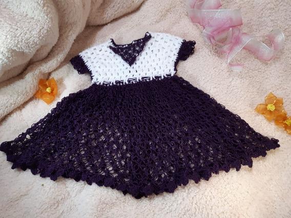 Vestido Tejido Para Niña (varios Colores, Modelos Y Tallas)