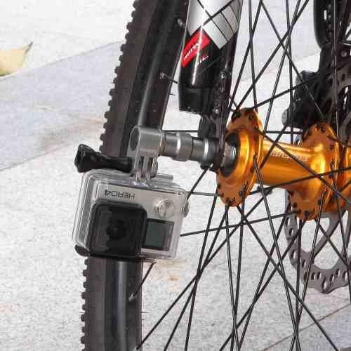 Suporte Roda Bike Filma Gopro Xiaomi Yi Sjcam Action Camera