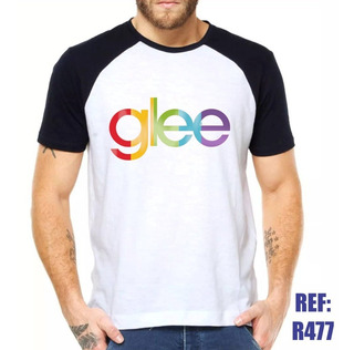Camisa Raglan Glee Série Seriado Música Tv Personalizado