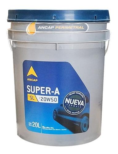 Lubricante Motor A Nafta 20w50 Super A Ancap Aceite 20 Lts