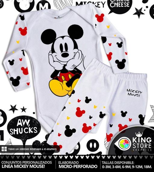 Conjuntos De Bebe Personalizados / Linea Mickey Mouse!