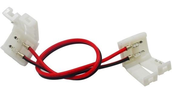 5x Emenda Plug Conector Para Fita De Led 5050 10mm 2 Vias