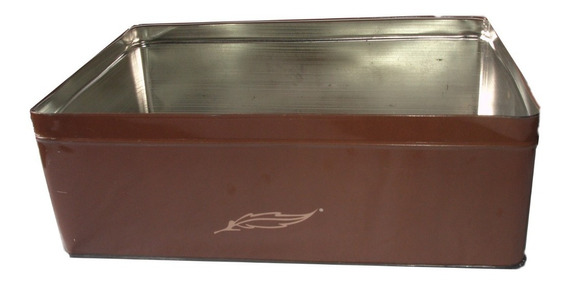 Lata Rectangular Ideal Galletero 31cm X 21cm X 11cm Sin Tapa