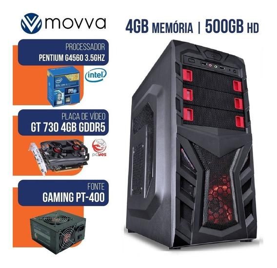 Computador Gamer Pentium G4560 3.5ghz 7ª Ger Mem4gb Hd500