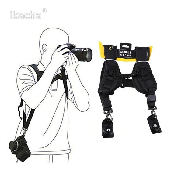 2 Alça Dupla Colete Câmeras Fotográficas Dslr Fotógrafos