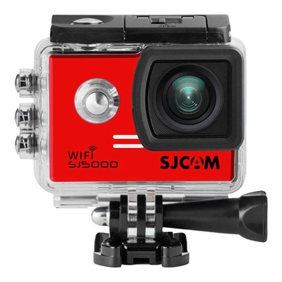 Câmera Filmadora Full Hd Wifi 14 Mp 4k Sjcam Sj5000 Vermelha