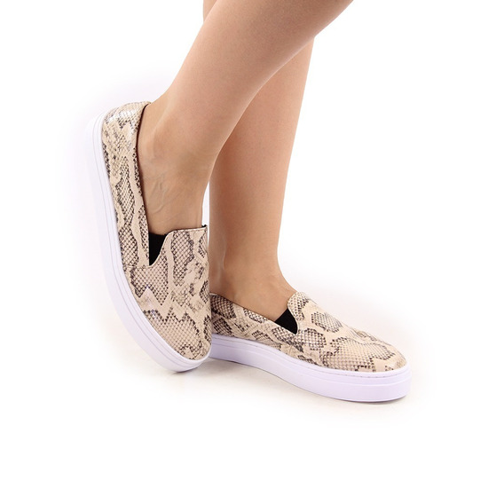 Tenis Feminino Slip On Sapatenis Casual Slipper Fuego